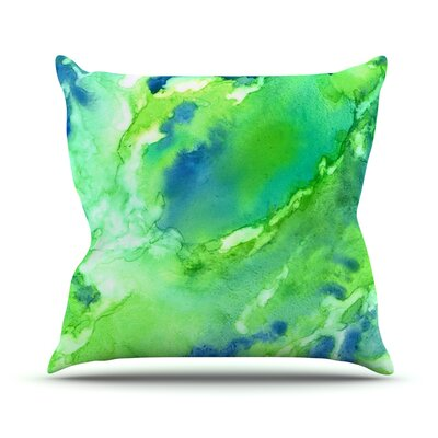 Touch of Blue Throw Pillow Size: 16