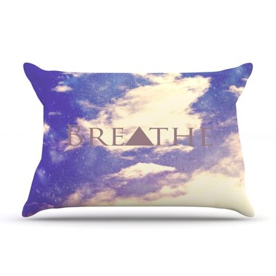 Breathe by Rachel Burbee Featherweight Pillow Sham Size: King, Fabric: Woven Polyester