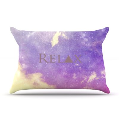 Relax by Rachel Burbee Featherweight Pillow Sham Size: King, Fabric: Woven Polyester