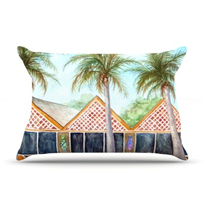 McT on Sanibel by Rosie Brown Featherweight Pillow Sham Size: Queen, Fabric: Woven Polyester