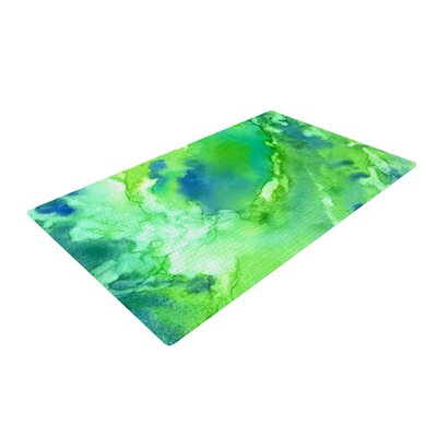 Touch of Blue Green Area Rug Rug Size: 2 x 3