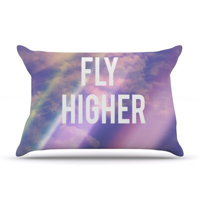 Fly Higher by Rachel Burbee Featherweight Pillow Sham Size: King, Fabric: Woven Polyester