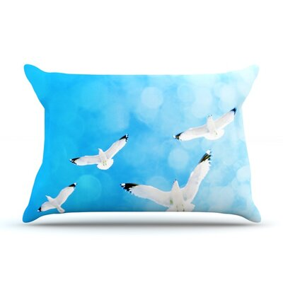 Fly Free by Robin Dickinson Featherweight Pillow Sham Size: Queen, Fabric: Woven Polyester