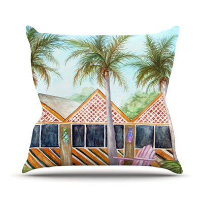 MCT on Sanibel Throw Pillow Size: 26 H x 26 W