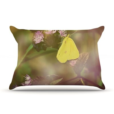 Butterfly Kisses by Robin Dickinson Featherweight Pillow Sham Size: Queen, Fabric: Woven Polyester