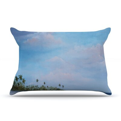 Carefree Caribbean Pillow Case Size: Standard