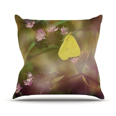 Butterfly Kisses by Robin Dickinson Throw Pillow Size: 18 H x 18 W x 3 D
