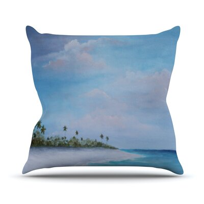 Carefree Caribbean Throw Pillow Size: 26 H x 26 W