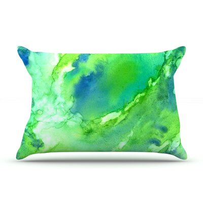 Touch of Blue Pillow Case Size: Standard