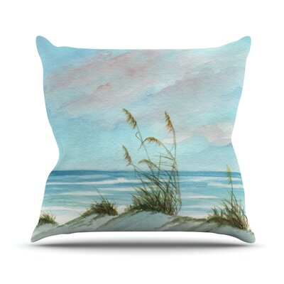 Sea Oats Throw Pillow Size: 18 H x 18 W