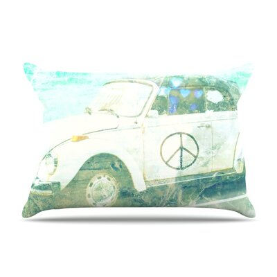 Love Bug by Robin Dickinson Featherweight Pillow Sham Size: King, Fabric: Woven Polyester