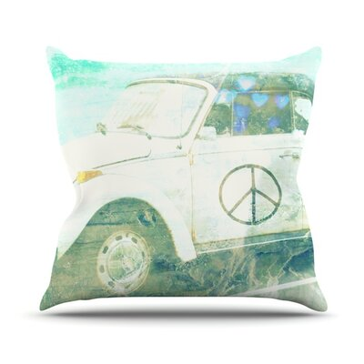 Love Bug Throw Pillow Size: 16 H x 16 W