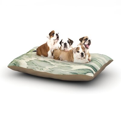 Robin Dickinson Dream Big Ocean Bird Dog Pillow with Fleece Cozy Top Size: Large (50 W x 40 D x 8 H)