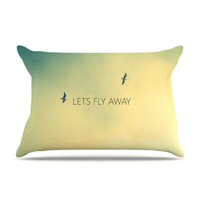 Lets Fly Away by Richard Casillas Featherweight Pillow Sham Size: Queen, Fabric: Woven Polyester
