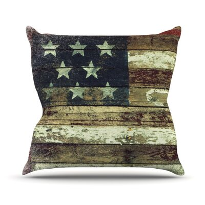 Oh Beautiful Throw Pillow Size: 16 H x 16 W
