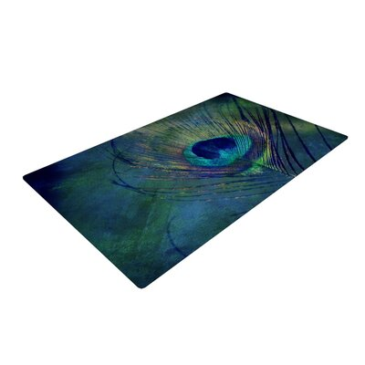 Plume Green/Blue Outdoor Area Rug Rug Size: 2 x 3