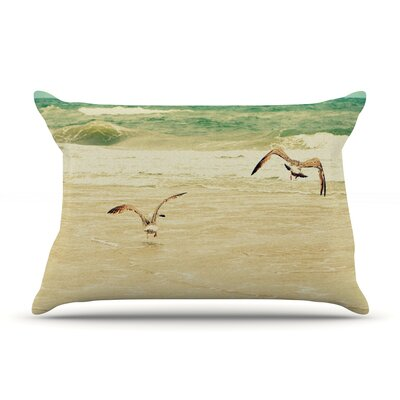 Karate Kid Pose by Robin Dickinson Featherweight Pillow Sham Size: King, Fabric: Woven Polyester