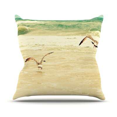 Karate Kid Pose Throw Pillow Size: 16