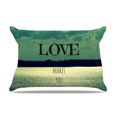 Love Makes You Sparkle by Robin Dickinson Featherweight Pillow Sham Size: King, Fabric: Woven Polyester