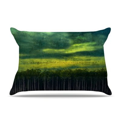 I Like This Place by Robin Dickinson Featherweight Pillow Sham Size: Queen, Fabric: Woven Polyester