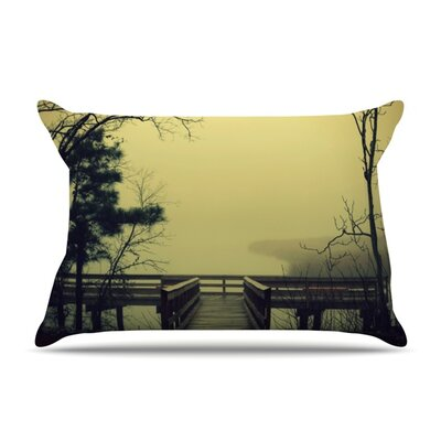 Fog on The River Pillow Case Size: Standard