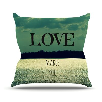 Love Makes You Sparkle by Robin Dickinson Throw Pillow Size: 26 H x 26 W x 5 D