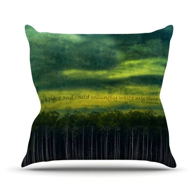 I Like This Place by Robin Dickinson Throw Pillow Size: 20 H x 20 W x 4 D
