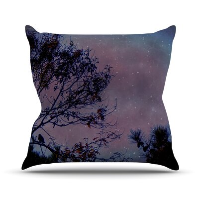 Twilight Tree Outdoor Throw Pillow Size: 26 H x 26 W x 4 D
