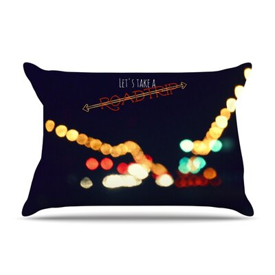 Road Trip Pillow Case Size: Standard