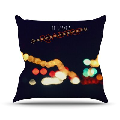 Road Trip Throw Pillow Size: 16 H x 16 W