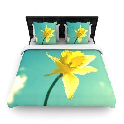 Daffodil Woven Comforter Duvet Cover Size: King