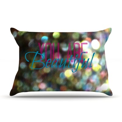 You Are Beautiful II by Robin Dickinson Featherweight Pillow Sham Size: King, Fabric: Woven Polyester