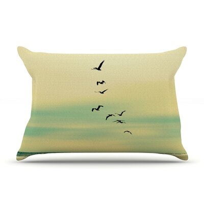 Across The Endless Sea by Robin Dickinson Featherweight Pillow Sham Size: King, Fabric: Woven Polyester