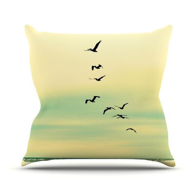 Across The Endless Sea Throw Pillow Size: 18 H x 18 W