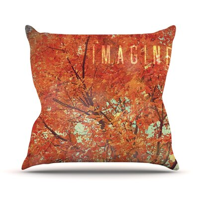Imagine by Robin Dickinson Leaves Throw Pillow Size: 16 H x 16 W x 3 D