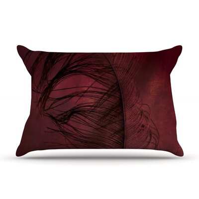 Plumtickled by Robin Dickinson Featherweight Pillow Sham Size: King, Fabric: Woven Polyester