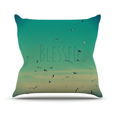 Blessed Throw Pillow Size: 16 H x 16 W