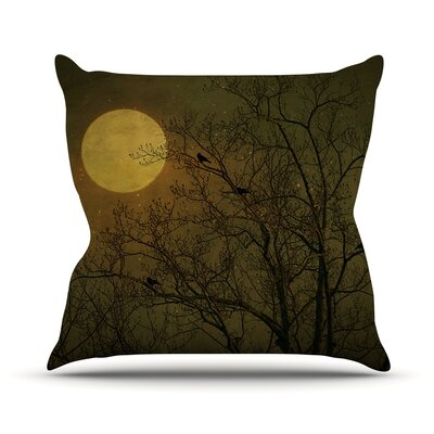 Starry Night Throw Pillow Size: 16 H x 16 W
