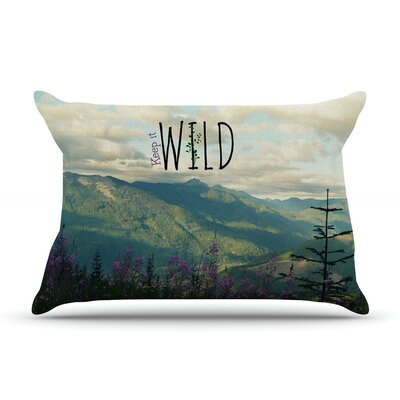 Keep it Wild by Robin Dickinson Featherweight Pillow Sham Size: King, Fabric: Woven Polyester
