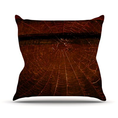 Dark Web by Robin Dickinson Throw Pillow Size: 18 H x 18 W x 3 D