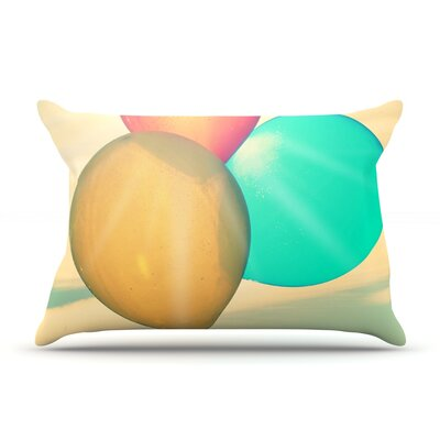 Balloons by Robin Dickinson Featherweight Pillow Sham Size: King, Fabric: Woven Polyester