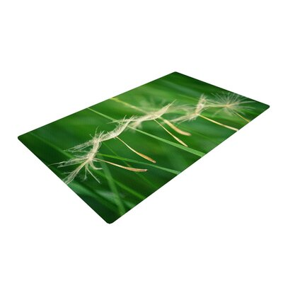 Robin Dickinson Best Wishes Flower Green Area Rug