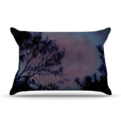 Robin Dickinson Twilight Purple Tree Featherweight Sham Size: Queen, Fabric: Woven Polyester