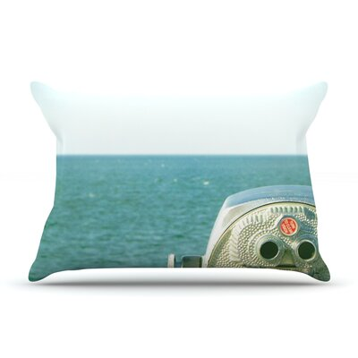 Ocean View by Robin Dickinson Featherweight Pillow Sham Size: King, Fabric: Woven Polyester