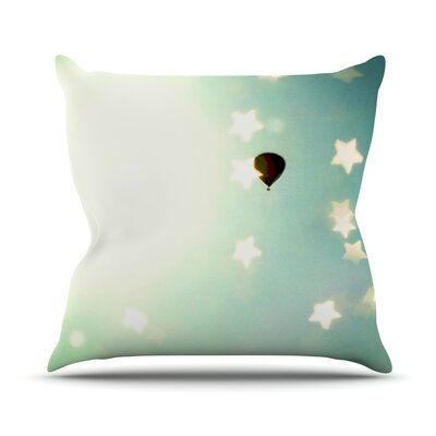 Amongst The Stars by Robin Dickinson Stars Throw Pillow Size: 26 H x 26 W x 5 D