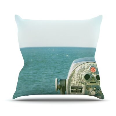 Ocean View Throw Pillow Size: 16 H x 16 W