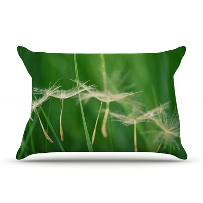 Best Wishes by Robin Dickinson Featherweight Pillow Sham Size: King, Fabric: Woven Polyester