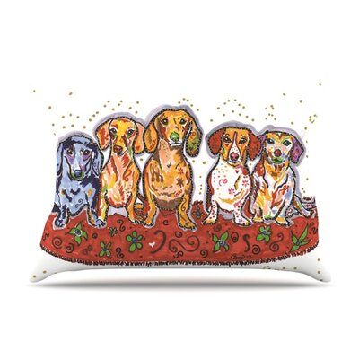 Maksim Murray Enzo Ruby & Willy by Rebecca Fischer Featherweight Pillow Sham Size: Queen, Fabric: Woven Polyester