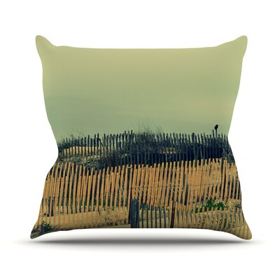 Carova Dunes Throw Pillow Size: 16 H x 16 W