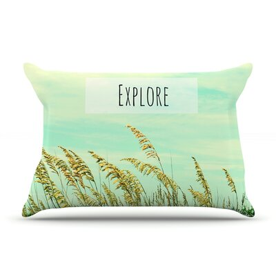 Explore by Robin Dickinson Featherweight Pillow Sham Size: Queen, Fabric: Woven Polyester